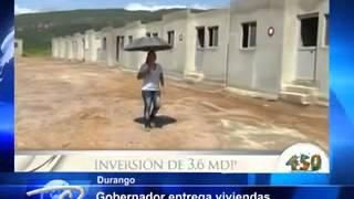 Durango.- Entregan viviendas en El Mezquital. Para bienstar de familias indígenas.