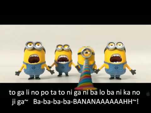 Minions Banana  Song - Lyrics