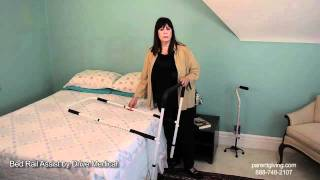 Bed Rail Assist by Drive Medical - 15063-ADJ(Adjustable-height, removable home bed assist rail by Drive Medical provides assistance for geting into and out of your home-style bed. No-slip foam grips. Easy ..., 2011-08-29T18:17:32.000Z)