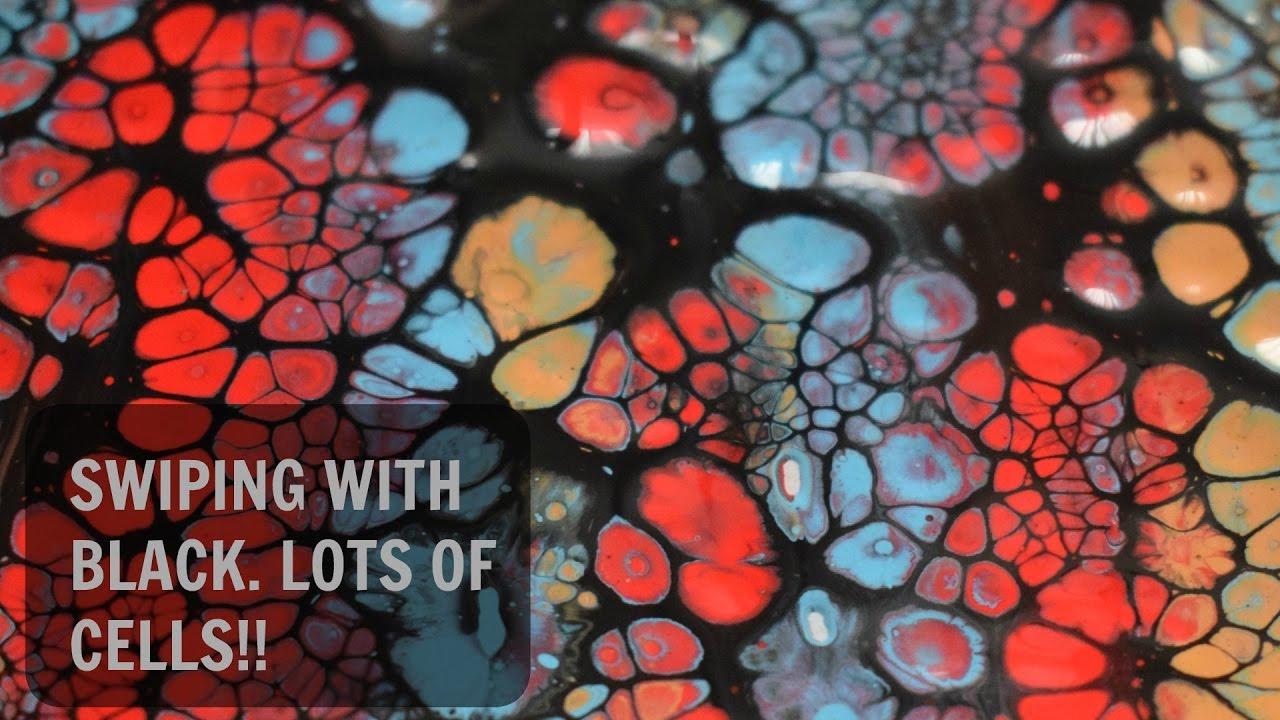 Fluid Painting Swipe Technique Acrylic Pour Cells
