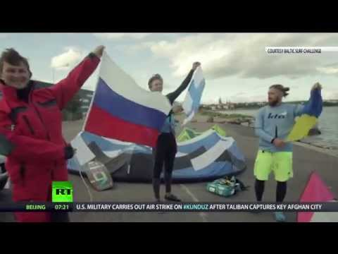 Sports Above Politics: Kite surfers set world record to promote Russia-Ukraine friendship