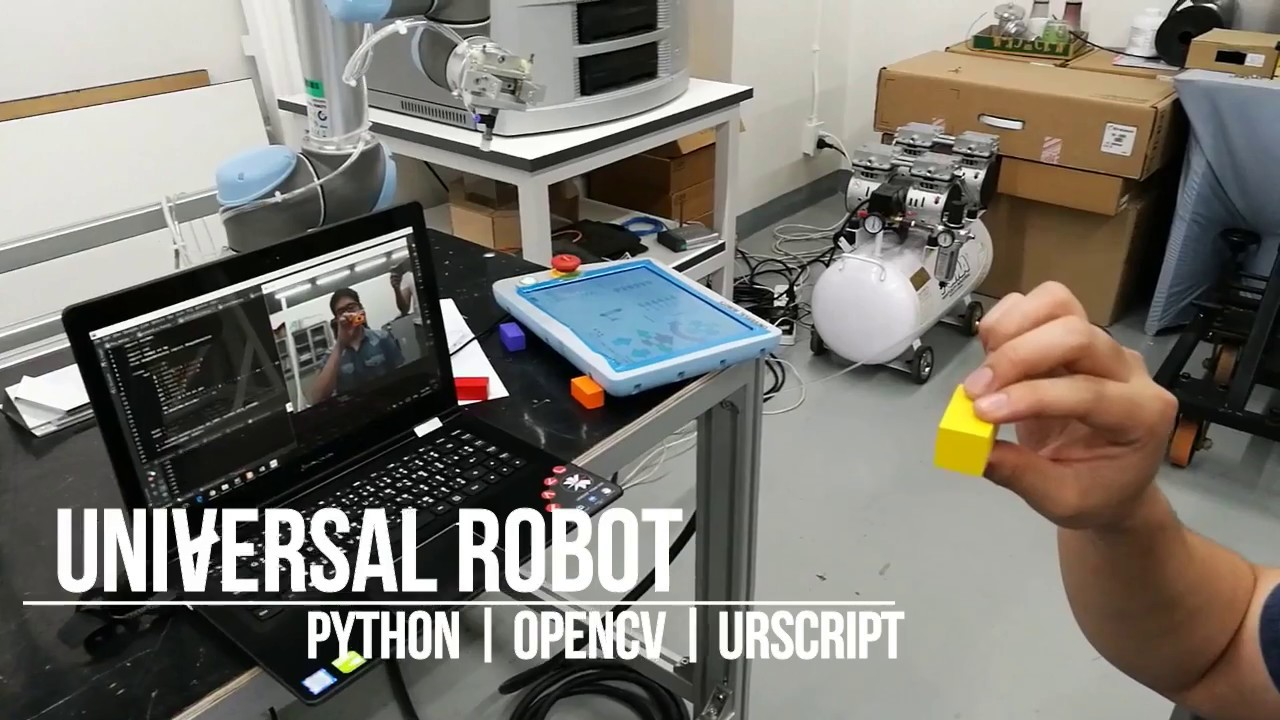 UR Robot + Webcam move follow Detected Object and Color