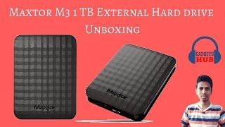 Maxtor (by Seagate) 1TB M3 USB3.0 | Slimline Portable Hard Drive | Unboxing  | Gadgets Hub