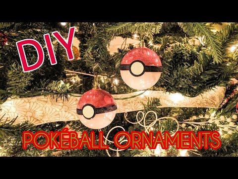 DIY Poké Ball Christmas Tree Ornament!