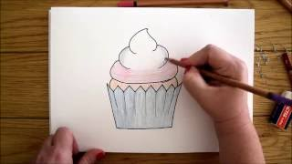 How To Draw a Cupcake [Lady Giraffe]