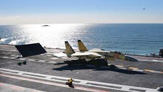 J-15 warplane sucessful land on Liaoning ship borne chinese Navy-air Force 最新殲-15視頻曝光中國海軍