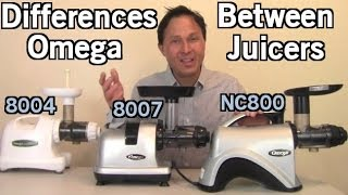 Differences Between Omega 8004 8006 8007 8008 NC800 NC900 Juicers