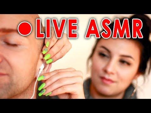ASMR Live Stream, Massage, Tapping, Q&A, Relax Academy