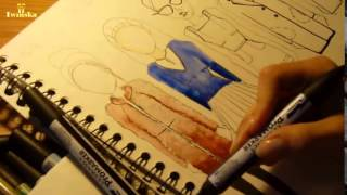 How to draw fashion illustrations Watercolour Fashion illustrations  Ilustracje mody