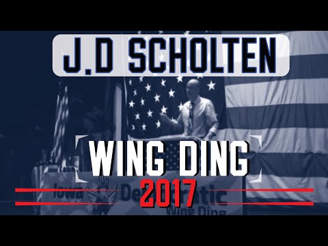 JD Scholten gives a passionate speech at the 2017 Wing Ding!