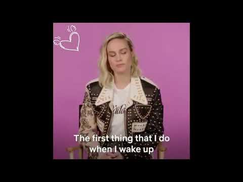 Brie Larson, aka Captain Marvel, sharing Little Things That Make Life Happy😘