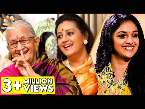 HILARIOUS : First Night Scene of DhaDha 87 | Keerthy's Paati and Menaka Suresh Interview | Savitri