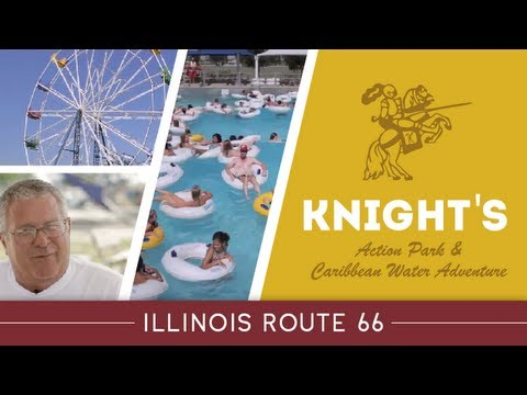 Illinois Route 66 Attractions; Knight's Action Park and Caribbean Water Adventure, Springfield