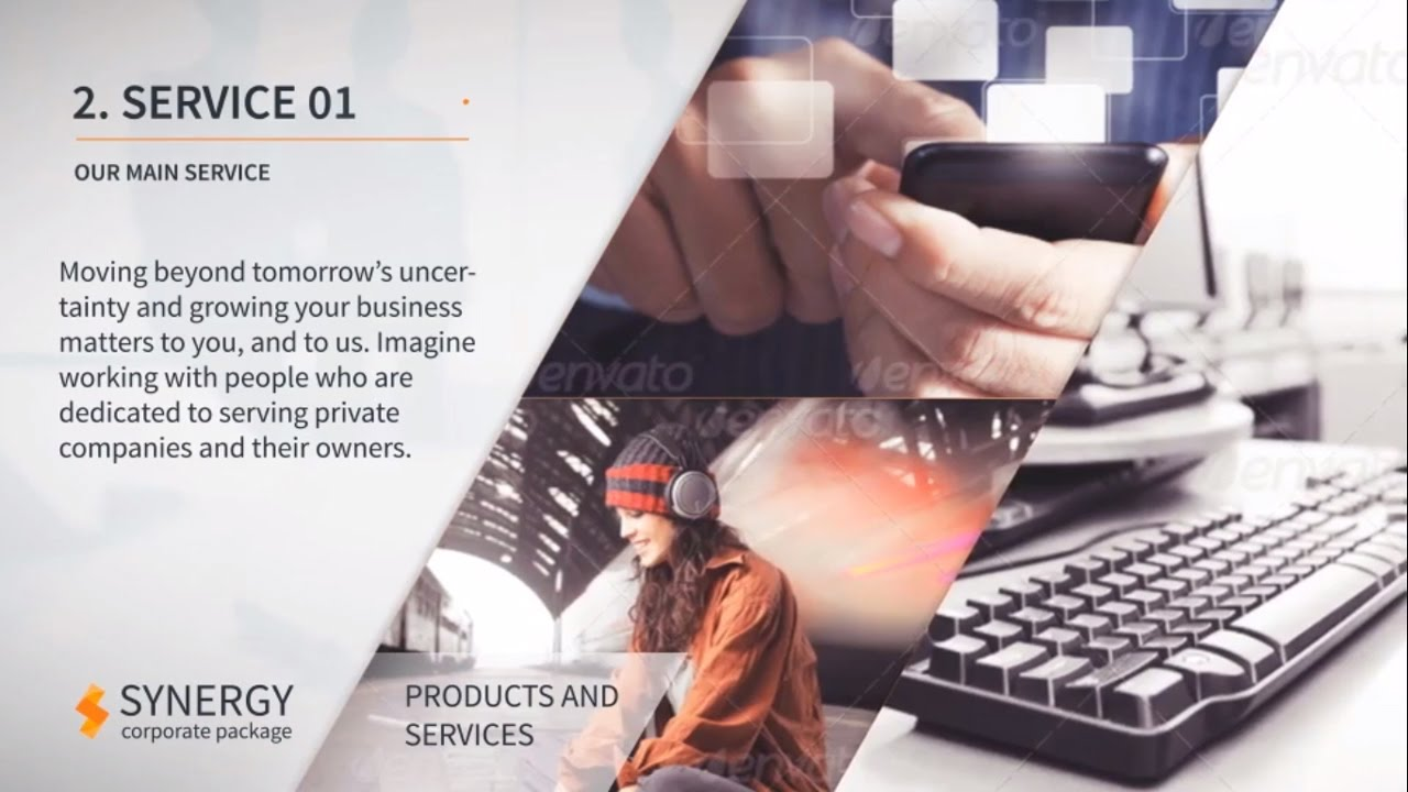 corporate services video presentation - after effects template, Presentation templates