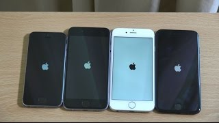 Apple iPhone 7 vs iPhone 6S vs iPhone 6 vs iPhone 5S iOS 10 - Speed Test!(, 2016-09-18T11:05:57.000Z)