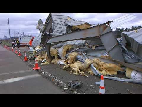 The Scene In Starbrick, Warren County, After A Tornado Hit