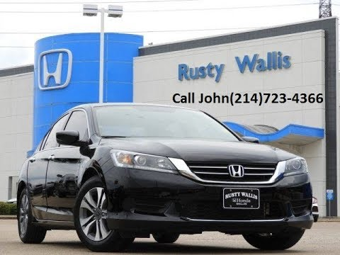 used cars 39 15 honda accord lx at rusty wallis in dallas tx youtube. Black Bedroom Furniture Sets. Home Design Ideas