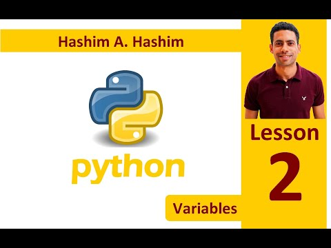 Python Lesson 2/14 variables, texts, length, index, replace and comments عربى بايثون متغيرات