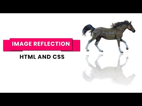 Simple Image reflection effect using html and css only