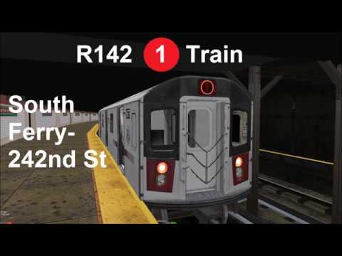OpenBVE Exclusive: R142 (1) Train Full Run from South Ferry to 242nd Street!