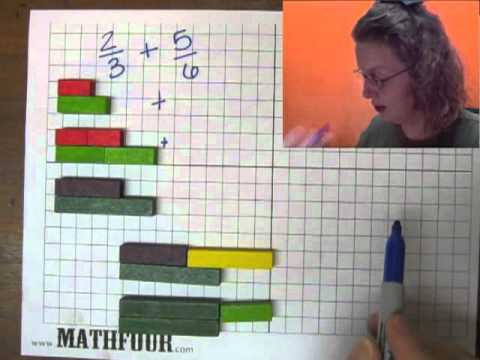 adding fractions with cuisenaire rods youtube. Black Bedroom Furniture Sets. Home Design Ideas