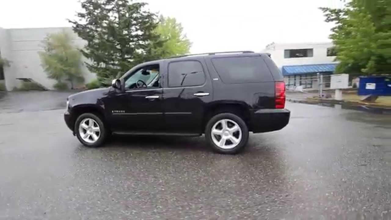 2008 Chevrolet Tahoe Ltz Black 8r134123 Redmond Seattle