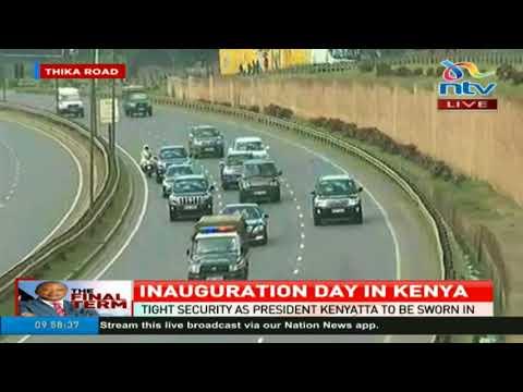 CJ David Maraga makes his way to Kasarani #InaugurationKE