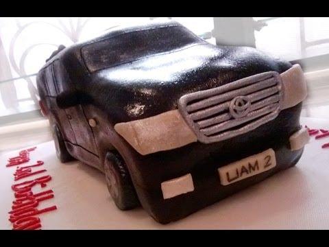 How To Make A Car Cake Toyota Land Cruiser Youtube