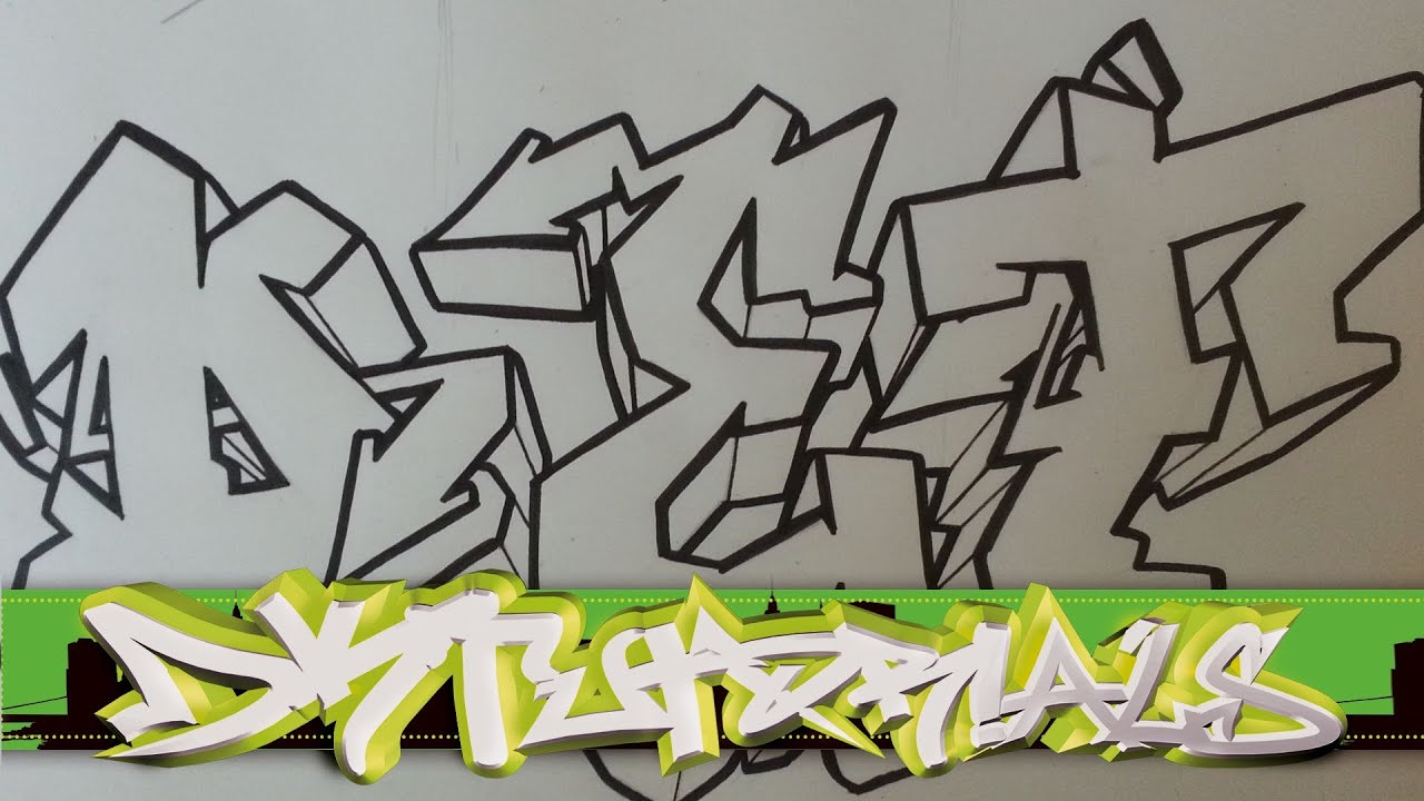 How To Draw Graffiti Wildstyle