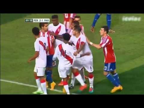 Lujo de Yordy Reyna enoja a los paraguayos. Peru 2-1 Paraguay 2014