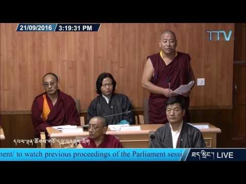 Tibetan Member of Parliament Tenpa Yarphel questions Nechung