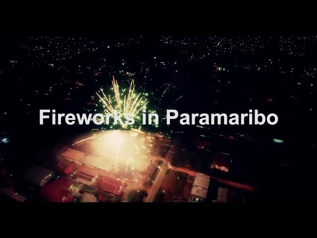Fireworks in Paramaribo - Suriname | Happy New Year! - Drone Footage