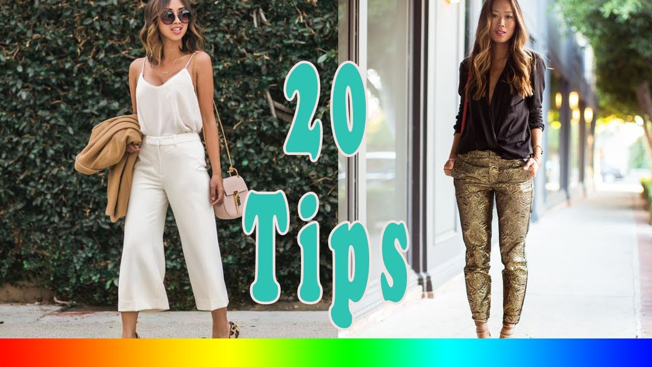 20 Style Tips On How To Wear Formal Pants Instead Of A Dress - YouTube