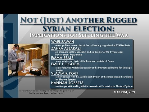 Policy Forum: Not (Just) Another Rigged Syrian Election: Implications for Settling the War