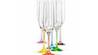 Цветные бокалы для шампанского Bohemia Rainbow 190мл - обзор Posudaclub.kiev.ua