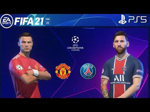 Download FIFA 21 PS5   Manchester United Vs PSG   Ft. Messi, Ronaldo   UEFA Champions League