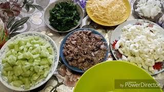 Салат из рыбной консервы. Лёгкий и очень вкусно 😋👍.