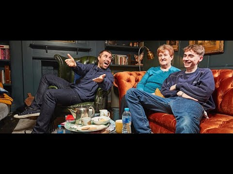 Liam Gallagher with mom Peggy and son Gene at Gogglebox