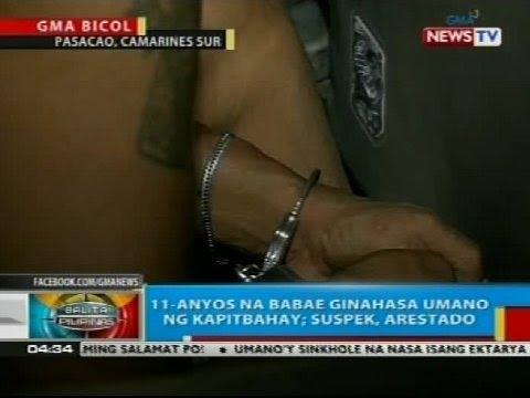 11-anyos na babae sa Camarines Sur, ginahasa umano ng kapitbahay