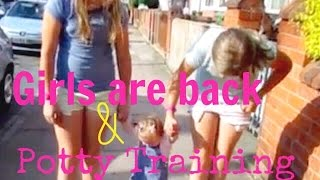 The Girls Come Home & Potty Training!