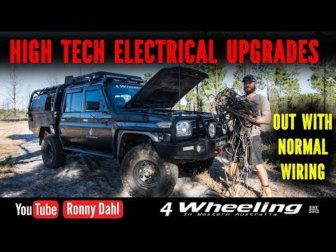 Landcruiser High Tech Electrical Upgrades. PDM