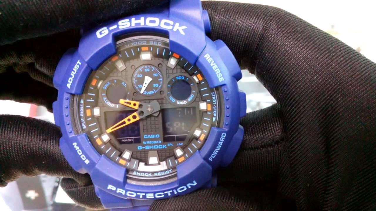 Casio G Shock Ga 100l 2a Youtube 1a