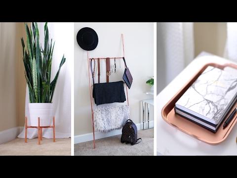 DIY Copper Plant Stand, Accessory Ladder + Home Decor 🌿 | ANN LE