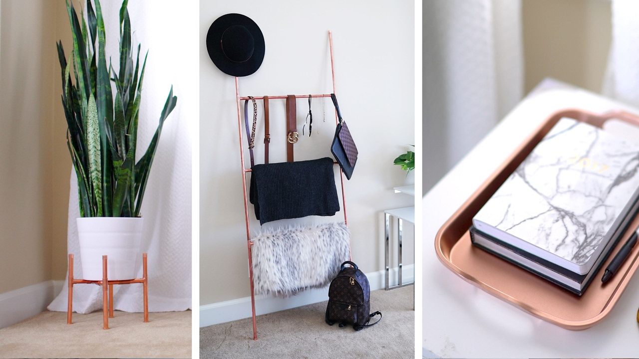 DIY Copper Plant Stand, Accessory Ladder + Home Decor 🌿 | ANN LE   YouTube