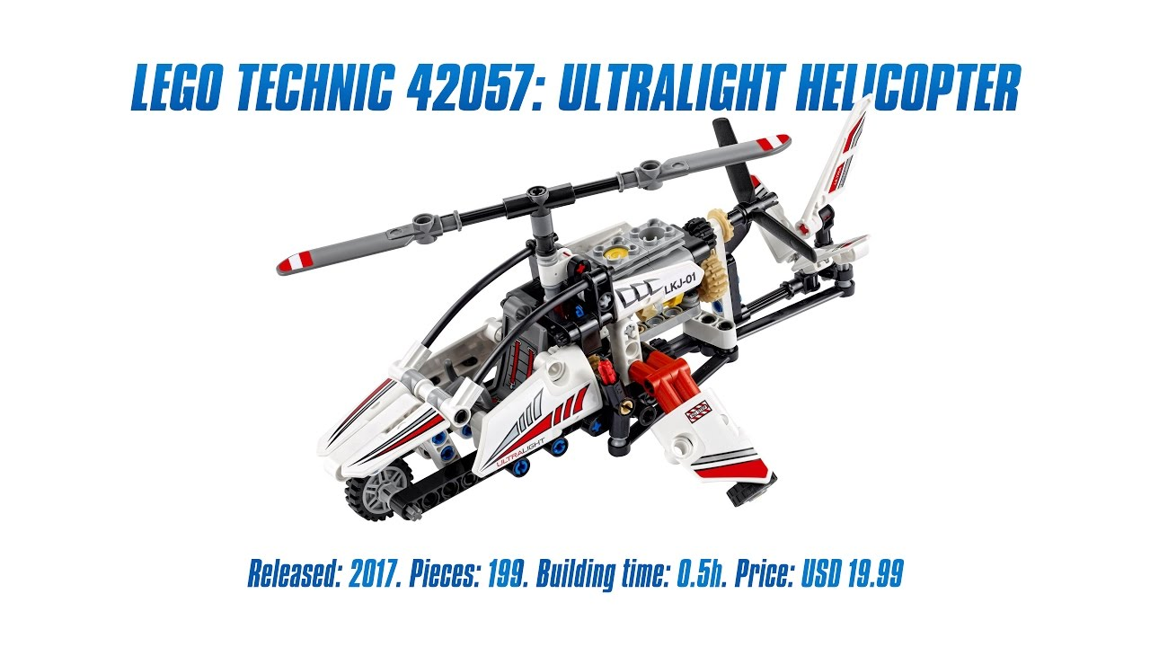 lego technic 42057 ultralight helicopter unboxing speed build review 4k youtube. Black Bedroom Furniture Sets. Home Design Ideas