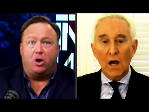 Alex Jones Freaks Out With Roger Stone, Who Thinks Obama Was Wiretapping Him & Trump