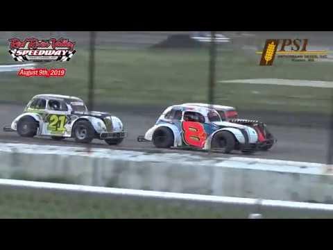 Red River Valley Speedway INEX Legends Heats (8/9/19)