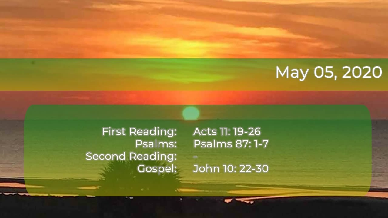 DAILY BIBLE READINGS - MAY 5, 2020 - YouTube