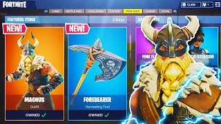 "NEW ""Mangus"" VIKING SKIN + NEW ""Forebearer"" AXE in Fortnite! - NEW UPDATE! (Fortnite Battle Royale)"