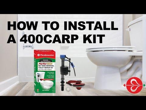 how to fix a running toilet fluidmaster 400carp no tank. Black Bedroom Furniture Sets. Home Design Ideas